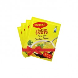 Nestlé MAGGI Healthy Soup Corn With Chicken Flavor (25 gm*4)